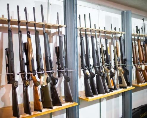 Jagdwaffen auf der Treffpunkt Jagd