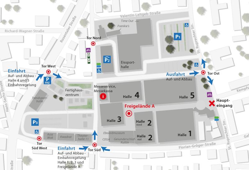 Geländeplan Häuslbauermesse