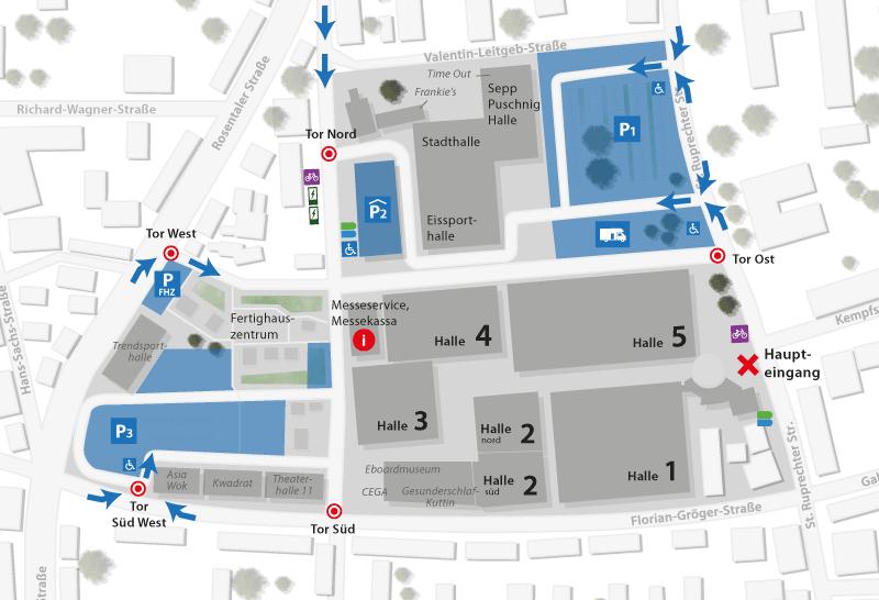 Geländeplan Pakrplatz